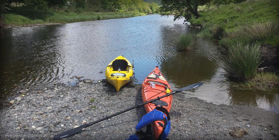 Kayaking in Bala
